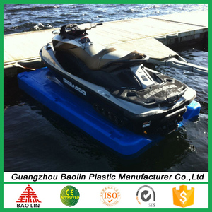 Inflatable plastic jet ski float for docks