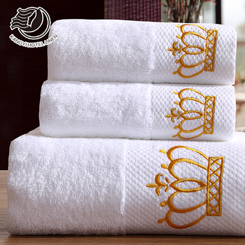 Hot Sale White 16S/32S Cotton Embriodery Microfiber Travel Towel