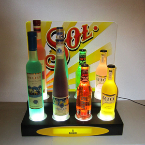 Factory Price Customized Bottle Lighting Display Stand