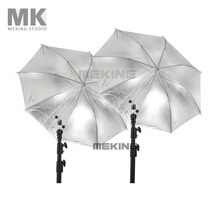 Photo Studio Lighting Umbrella Photo Umbrella 2* 84cm/33″ Silver Black Umbrella 2in1 kit