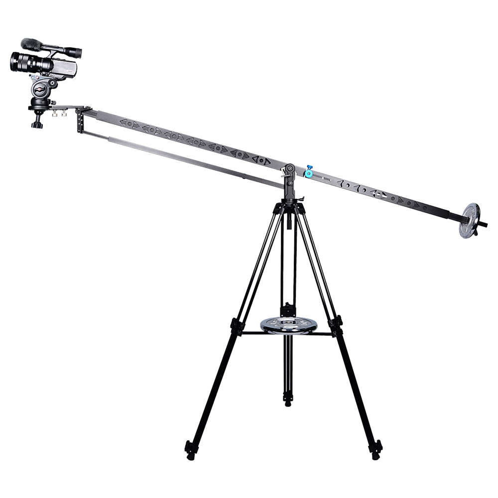 aluminium 3Meter pan tilt head foldable camera crane jibs professional for video film shooting