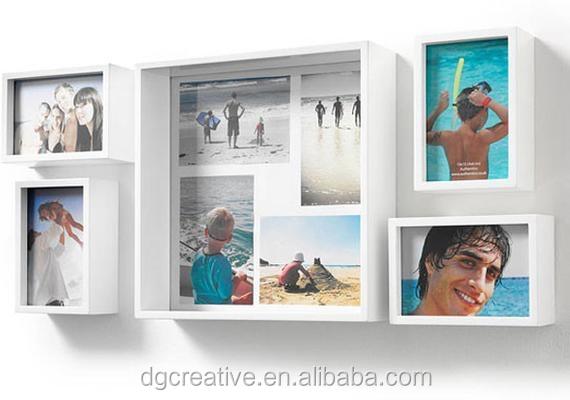 Set Of 5 Box White Multi Wood Collage Photo Frames - Buy Handmade ...