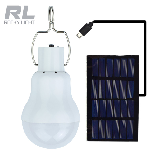 Solar Panel Powered Solar Bulb With Portable Hook,Solar Flashlight For Outdoor/indoor