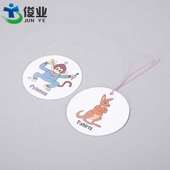 Custom Printing Logo Private Label Garment Clothing Recycled Thick Paper Card Kids Hang Tags