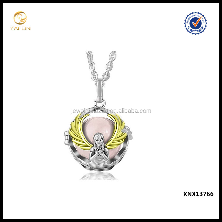 Wholesale Guardian Angel Jewelry 925 Sterling Silver Cage Locket Pendant Supplies China