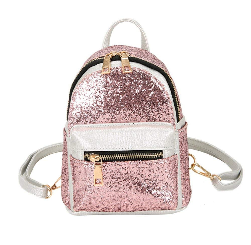 dd80da21b2ae6 Get Quotations · Girls Cute Sequin Mini Backpack Leather Purse Women Small  Leather Backpack Cross Body Bag