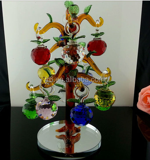 Christmas Crystal Gift Crystal Apple Trees for Valentine's Day