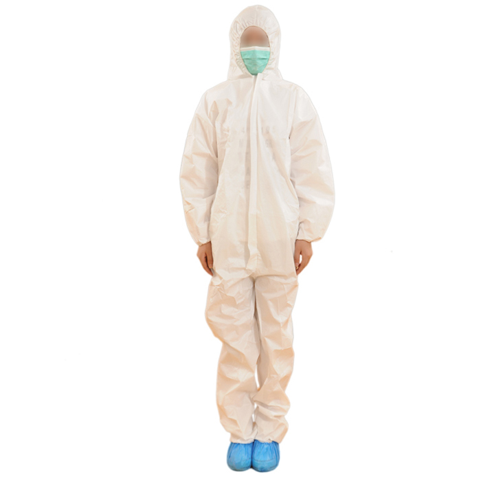 Disposable hooded coverall