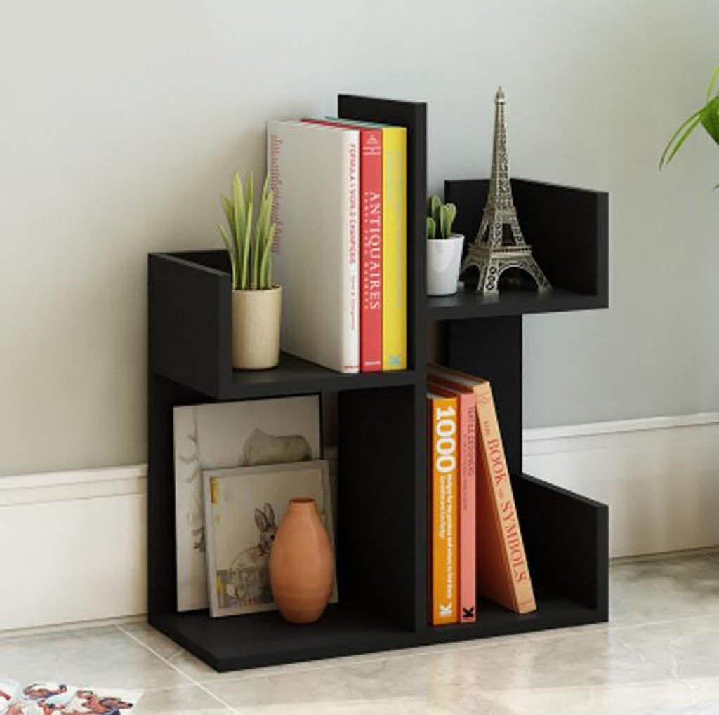 WERT wall bookshelves simple desktop Shelf Creative bookshelf On the table Shelf Simple modern desk Incorporated Small bookshelves flower shelves (Color : 3, Size : L48W21H70CM)