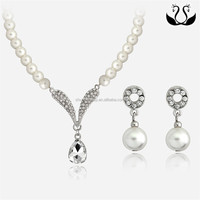 2016 Fashion Women Pearl Jewelry Set Cheap Indian Design Jewelry