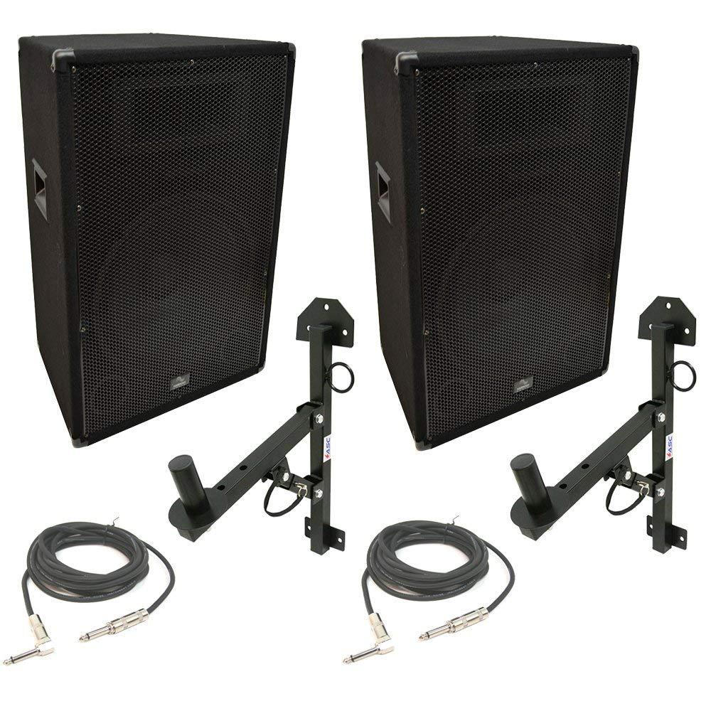 "Harmony Audio HA-V15P Pro DJ 15"" Passive 900W PA Speaker 1/4"" Cable & Wall Mount"
