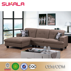 china guangdong factory American latest L shaped corner sofa design
