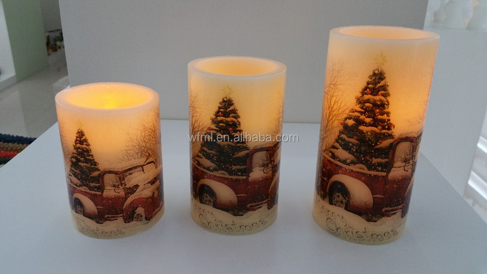 New Style High Grade Household New Designed Flickering Flame LED Wax Candle