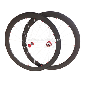 Super Lightweight Carbon Wheels 50mm clincher wheelset ,Assembled with red powerway R36 hubs +pillar spokes +nipples
