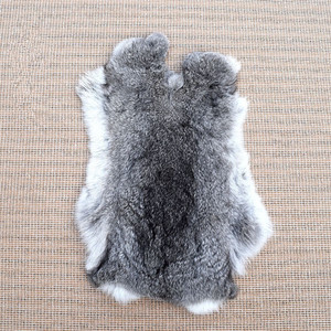 wholesale factory price natural hair raw chinchilla rabbit skins