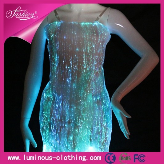 2015 Colorful New Mini Led Lights Clothing Cocktail Club Prom Dresses