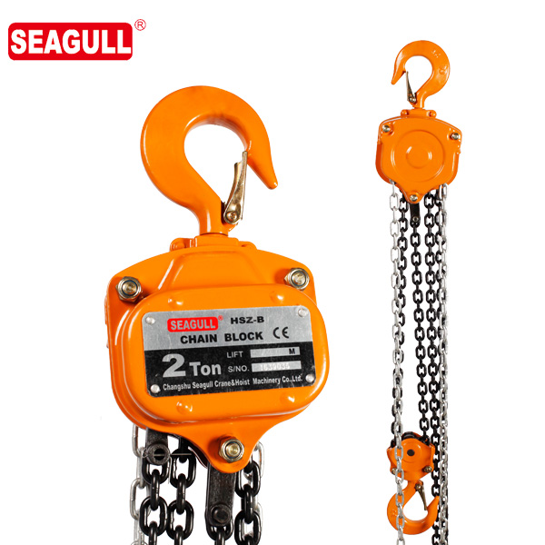 HSZ-B type chain block hoist TUV CE approved 2 ton lifting chain hoist