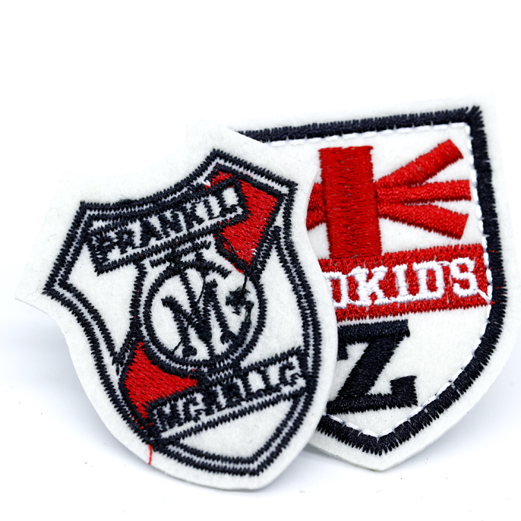 Custom Embroidery Brand Name Logo High Frequency Embroidered Badge Patch