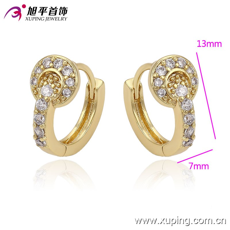 Small Baby Girls 14k Gold Plated Cz Mini Hoop Earrings,The ...