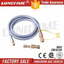CSA approved PVC flexible natural gas hose assemble