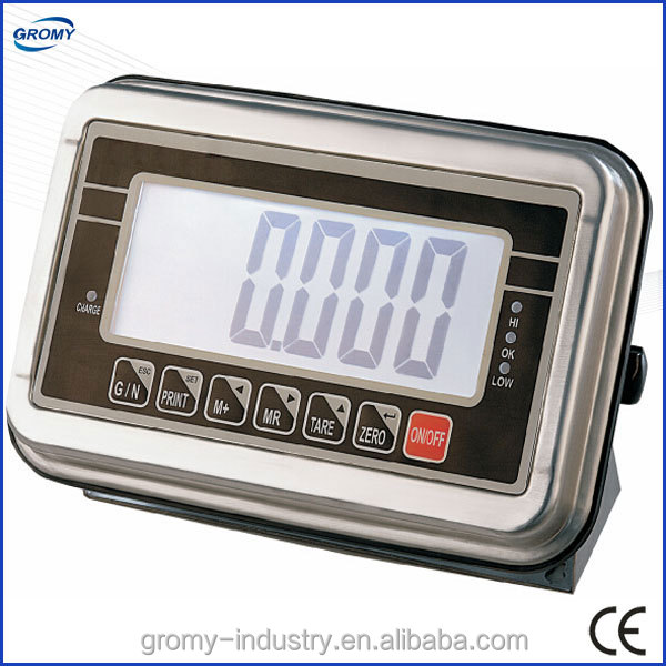 Electronic Stainless Steel IP67 LCD Weighing Indicator BWS