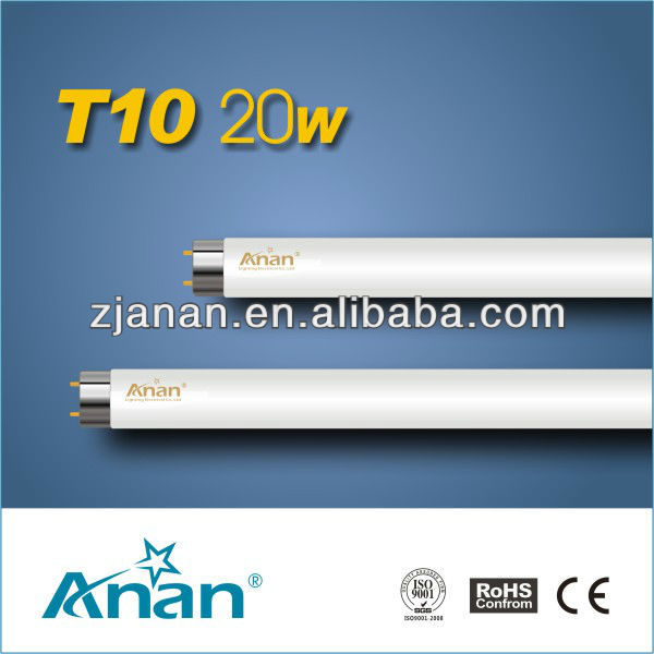 T10-20W energy saving support de tube fluorescent hot sale