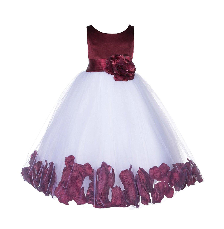 16d6c7c17b1 Get Quotations · ekidsbridal Rose Petals Flower Girl Dresses Pageant Gown  Wedding Tulle Dresses Birthday Girl Dress 167T