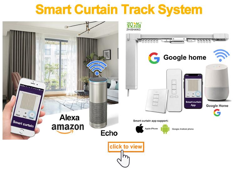 Intelligent Google home rideau occultants motorisés stores à rouleau
