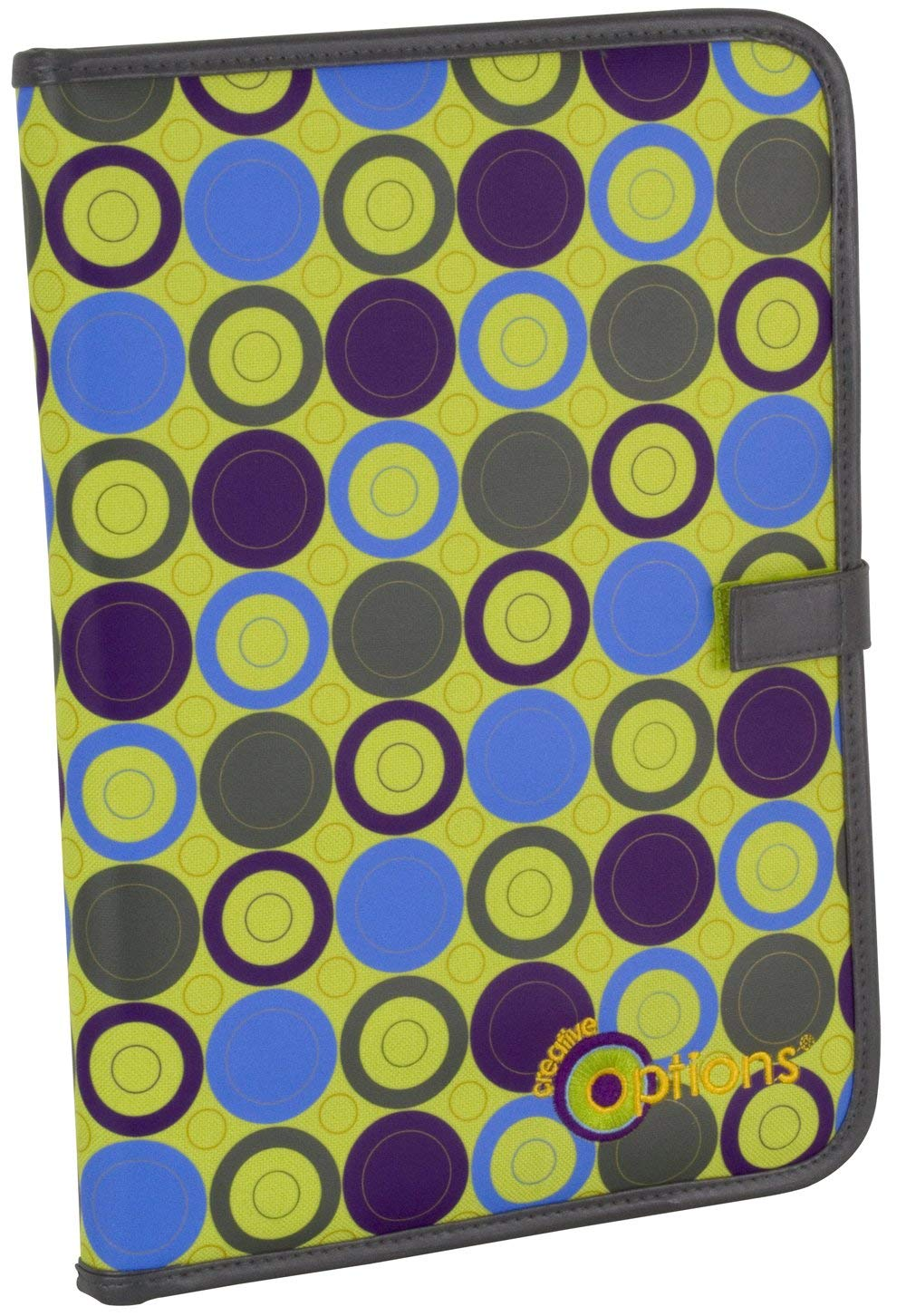 Creative Options Bead Board Folder with Clear Cover, Vineyard Bubble Dots and Sage