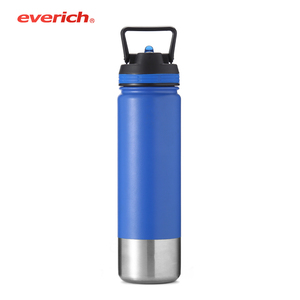 500ml 650ml 750ml Stainless steel water bottle keep hot and cold flask with handle lid