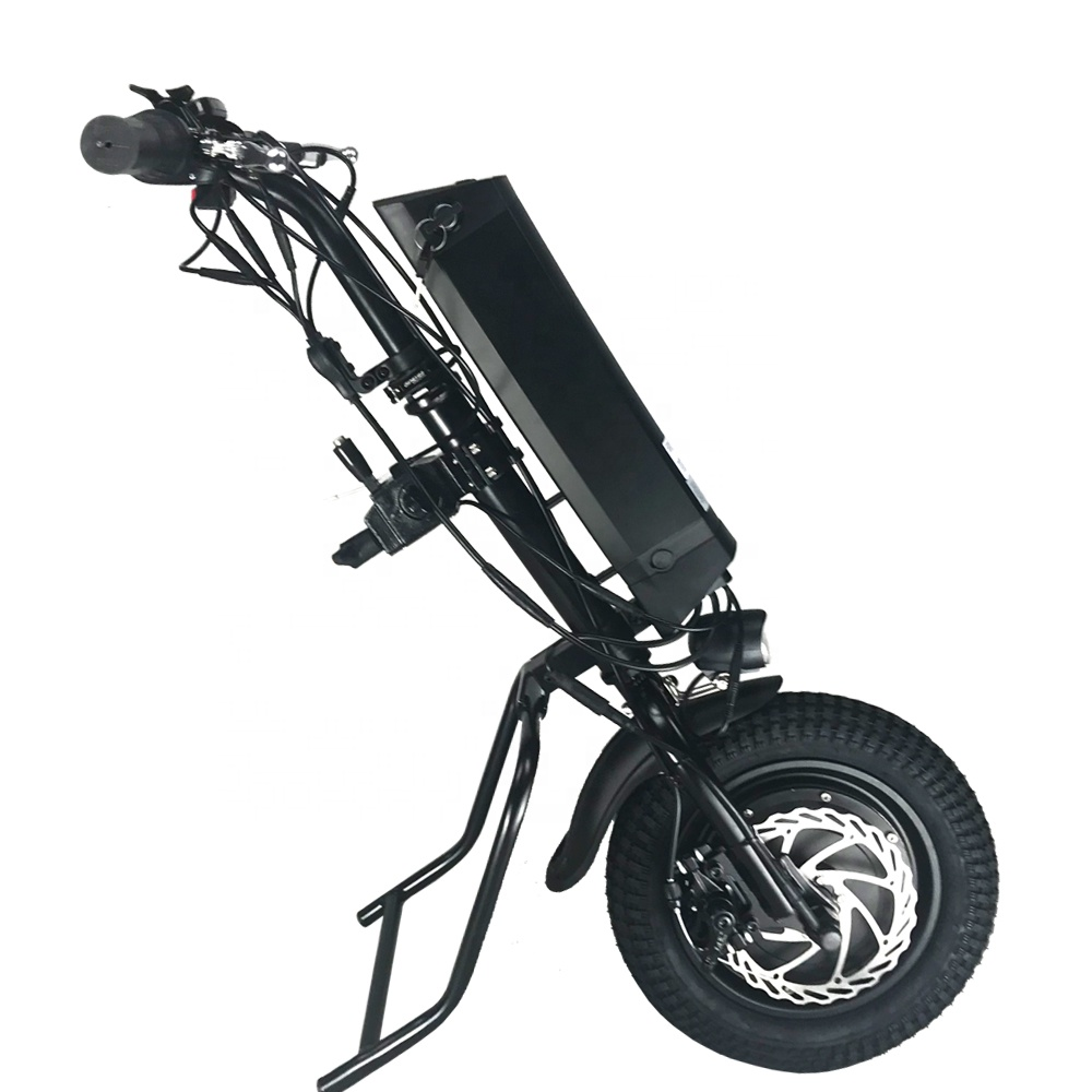 new version 30km/h full wheel 36v 350w wheelchair stand up electric handbike for handicap
