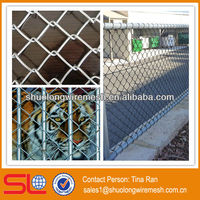 China Hebei BV Company galvanized and pvc coated chain link security fence mesh/chain link fence covering