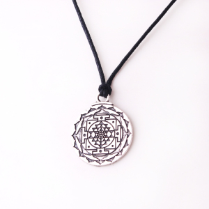 N0550 Yiwu Huilin Chakra 3rd Eye Hindu Goddess Yoga Sri Yantra Wicca Wealth Pendant clip on charm