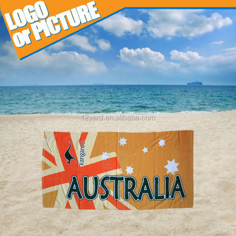 2015 digital printed Australia flag soft and comfortable summer Water sports sunset beach towel
