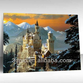 Custom 3d Nature Scenery Picture Framed For Wall Decor - Buy 3d ...