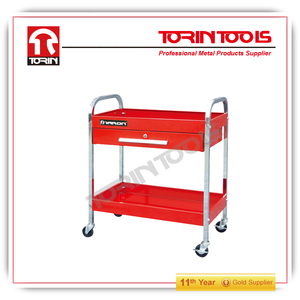 Hotel Mobile Glass Turntable Collection Trolleys/Tool Carts