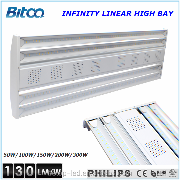 UL 100W 4 feet linear led highbay, 5 years warranty led linear high bay.
