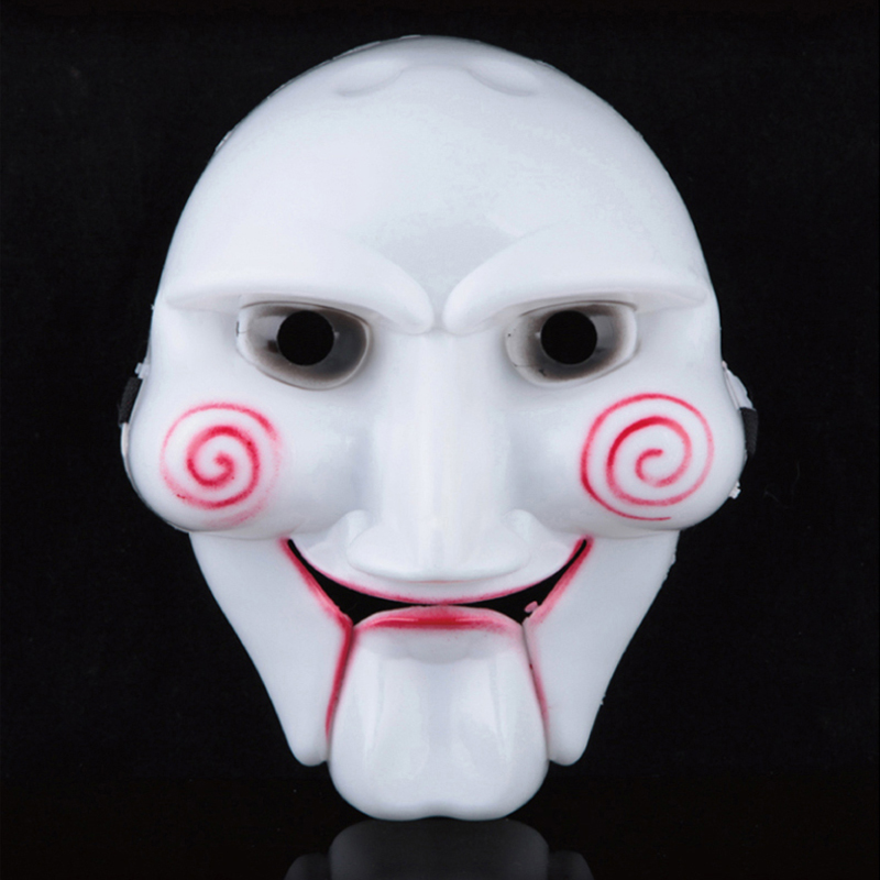 Movie Saw chainsaw massacre plastic horror joker mask for party supplies