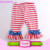USA Apparel design services leggings Baby Girls Soft Knit Kids black stripe Ruffle bottom leggings flare pants