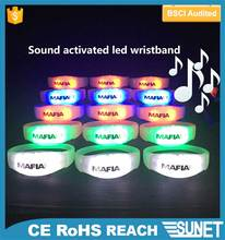 new year 2017 festival celebration event items sound active silicone wristband
