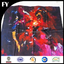 Factory custom digital print silk scarf 90x90 from China