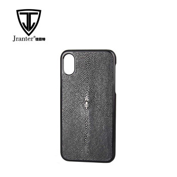Luxury Stingray Leather Phone Accessories Mobile Case For I Phone 8, Wholesale Leather Case Phone Cover Custom