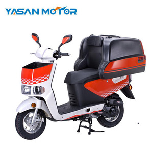 Long Range Delivery Scooter 50cc Gasoline With Pizza Box For Sales