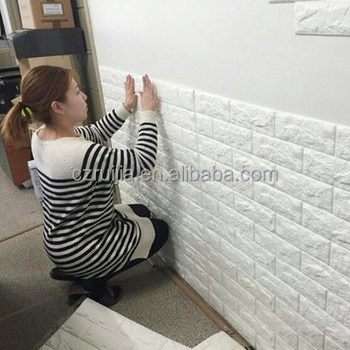 High quality new design self adhesive 3d brick pe foam for Papel adhesivo pared barato