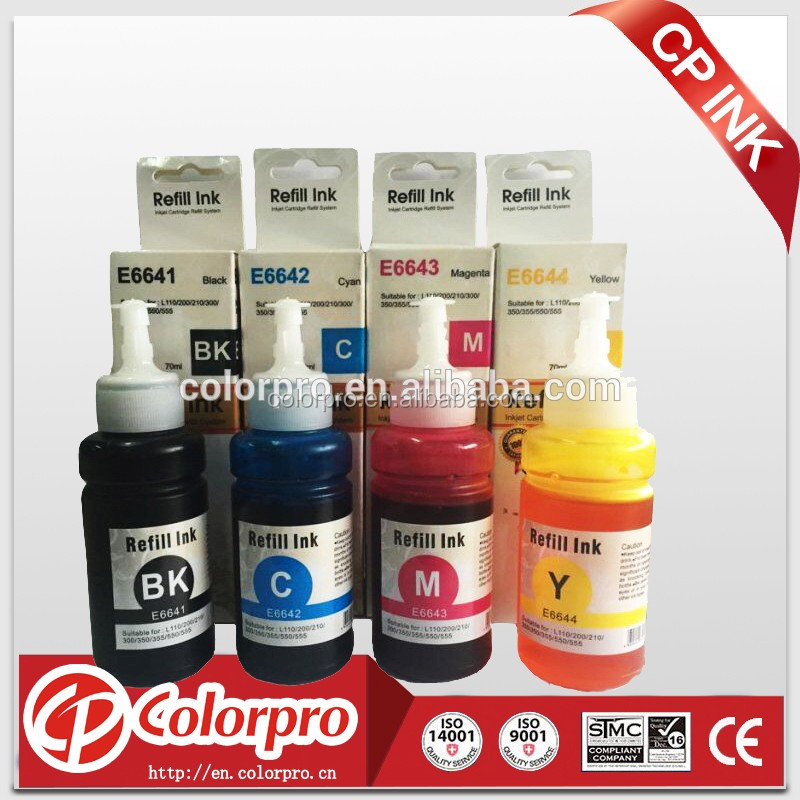 Refill 70ml Inkjet ink for epson L100 L110 L200 L210 L355 L555 printer