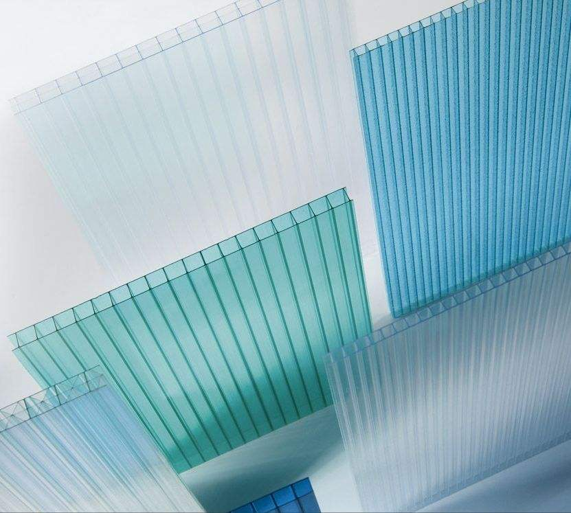 Commercial China Supplier Twin Wall Polycarbonate Sheets uv resistant