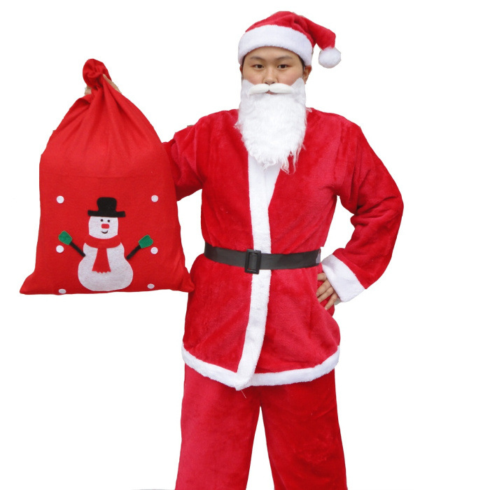 Factory price Christmas costume Xmas Santa Claus costume suit for adult