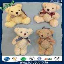Low price plush teddy bear keyring toys for kids