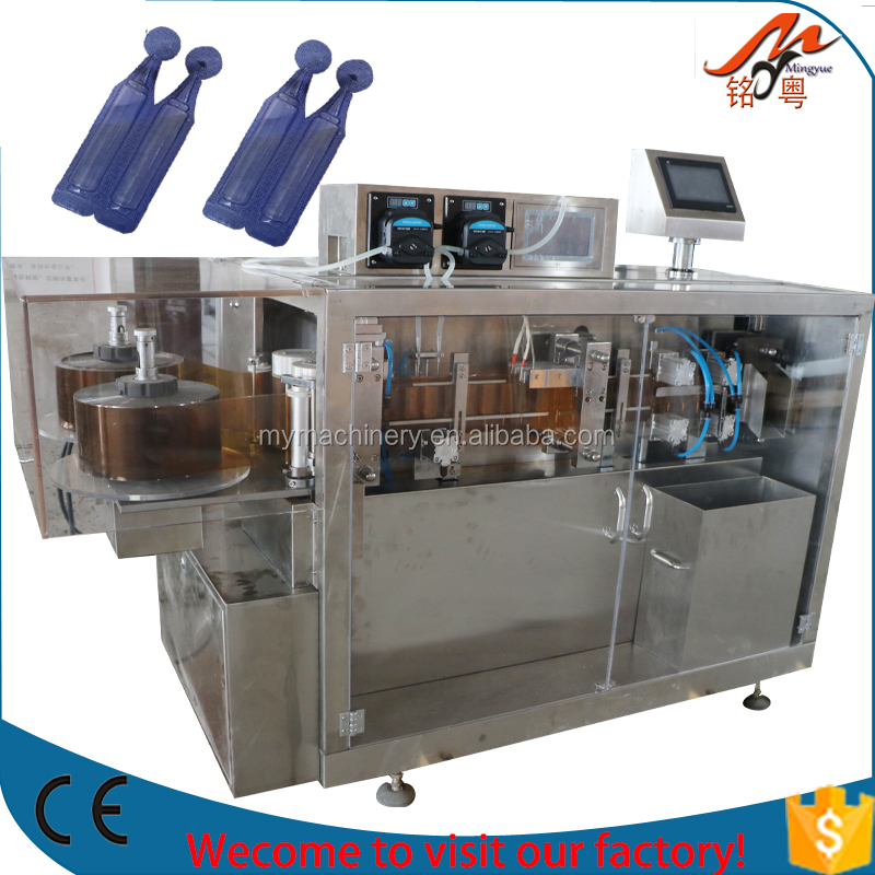 Automatic plastic ampoule forming filling sealing machine