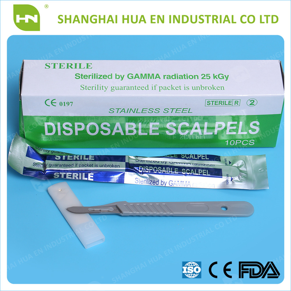 Medical stainless steel sterile surgical blade with CE FDA ISO